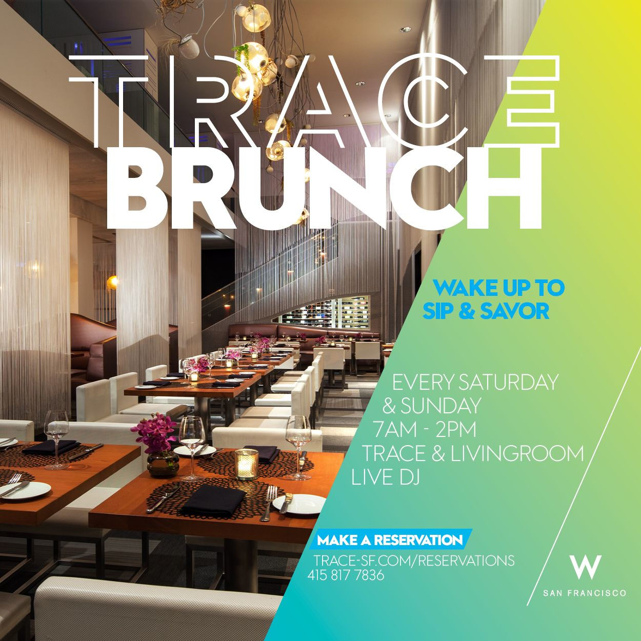 Best Brunches in San Francisco - TRACE San Francisco restaurant
