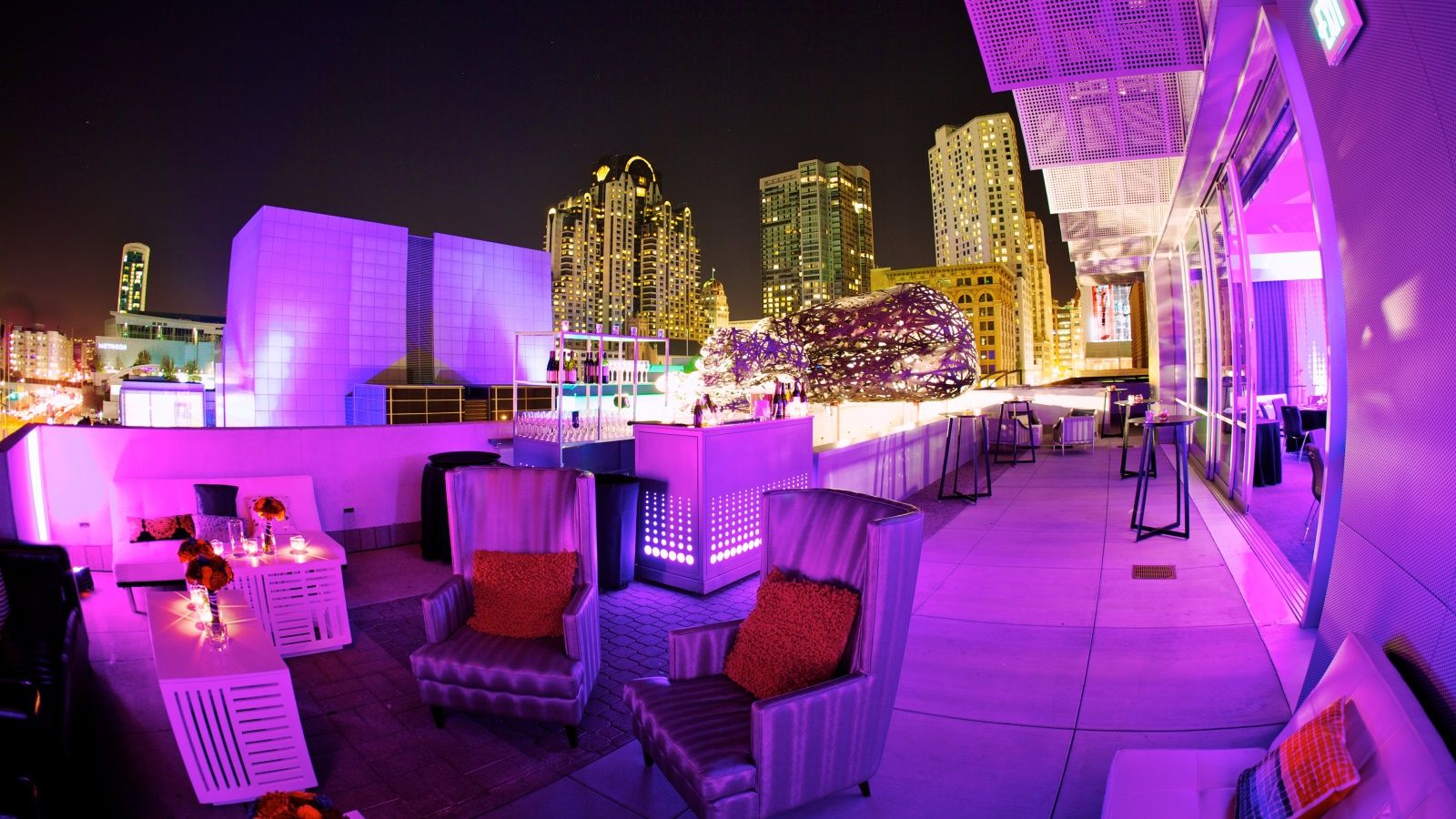 Social Terrace Outdoor Patio at W San Francisco